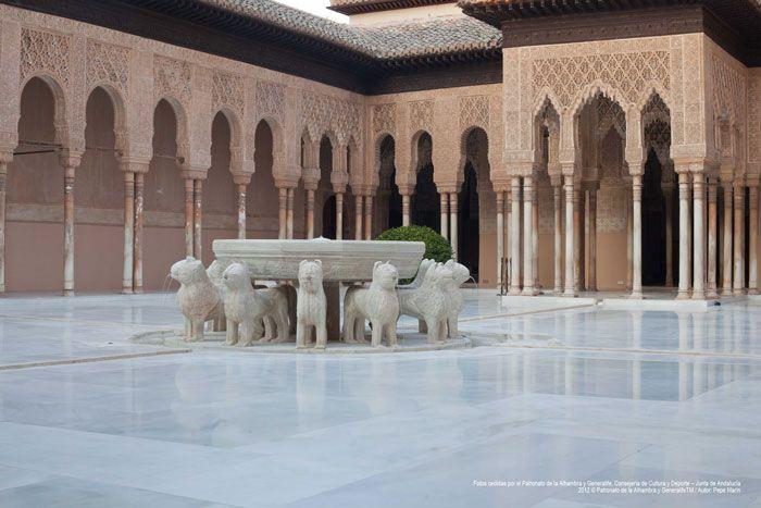 Patio de los leones. #Alhambra #Granada