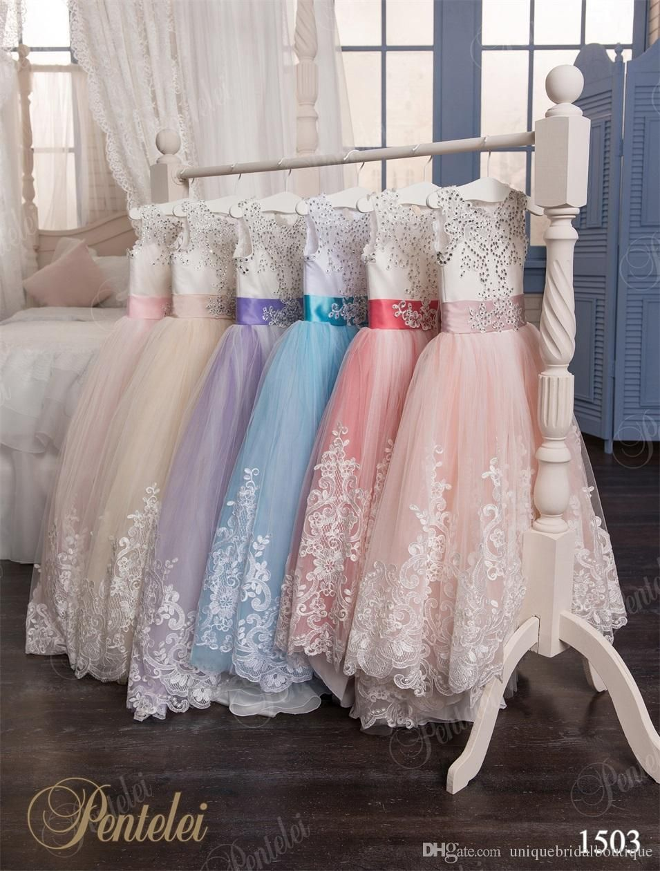 Flower girls dresses 2016 pentelei ball gown appliques tulle cheap dress puppy buy quality dress stylish directly from china dress up party supplies suppliers princess flower girl dresses vestido daminha pageant izmirmasajfo Images