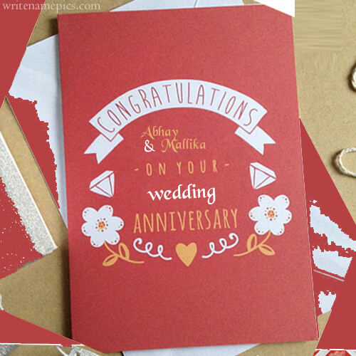 Successfully Write Your Name In Image Happy Anniversary Wishes Happy Anniversary Cards Wedding Anniversary Cards