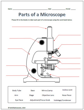 Parts Of A Microscope Labeling Functions Worksheet Science Science Teaching Resources Microscope Science