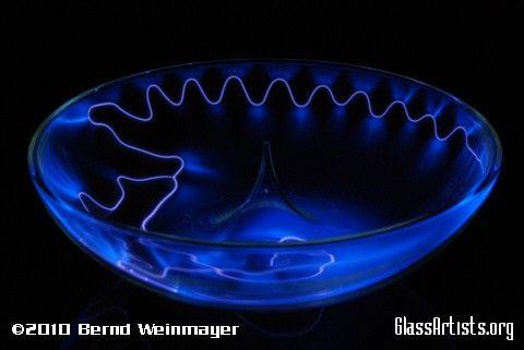 Bernd Weinmayer Art Glass Bowl Light Art Neon Art