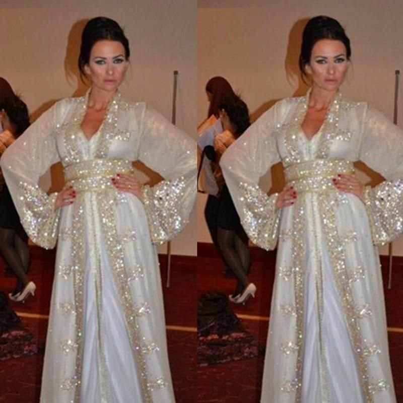 New Design Custom-made 2015 Long Sleeves Arabic Evening Gowns ...