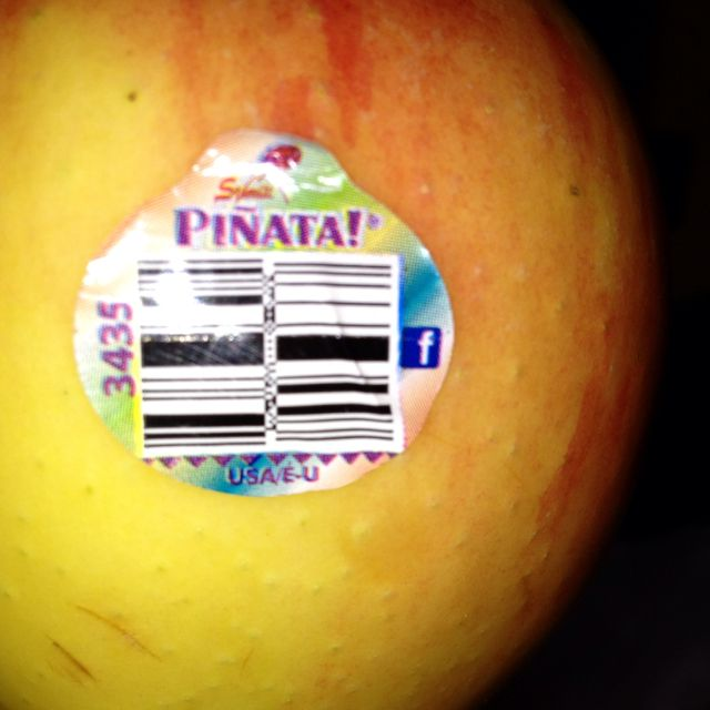 Even my apple is on Facebook