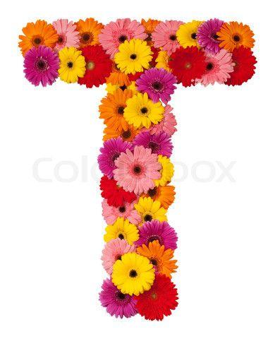 Flower Letters Image Of Letter T Flower Alphabet Isolated On White Background Flower Alphabet Flowers Flower Letters