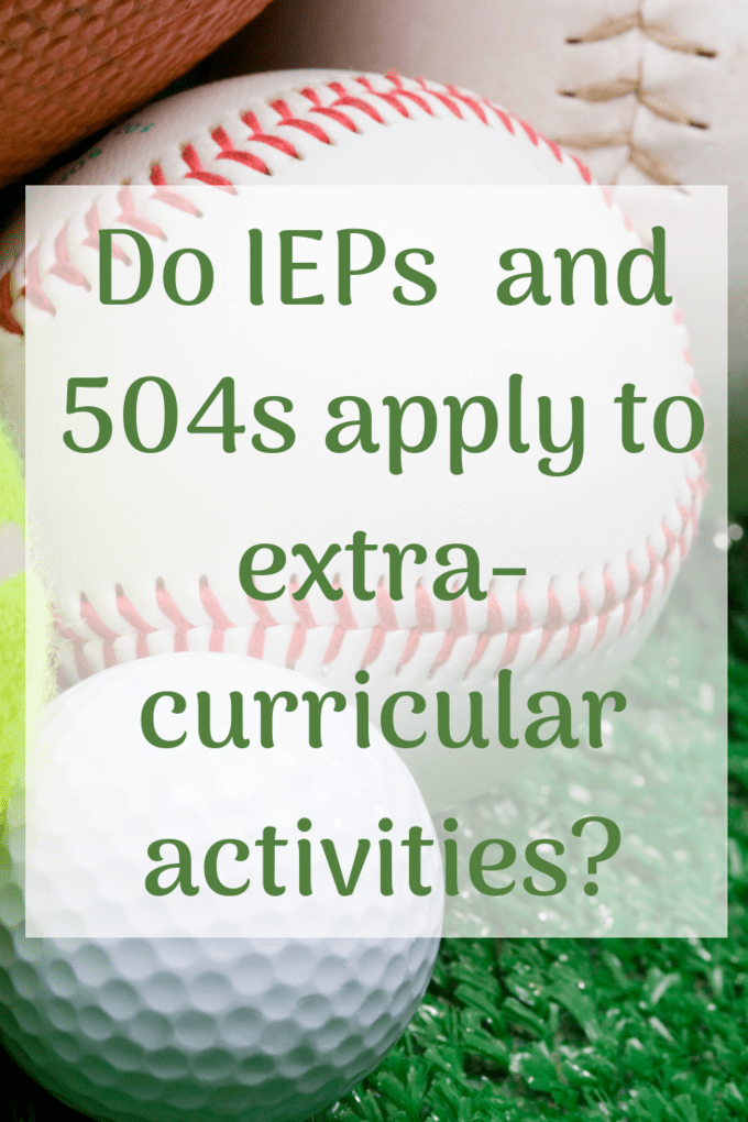 Section 504, IEPs and Sports | Extra-Curricular Activities ...