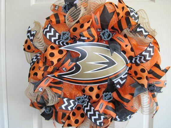 Anaheim Ducks Hockey Wreath