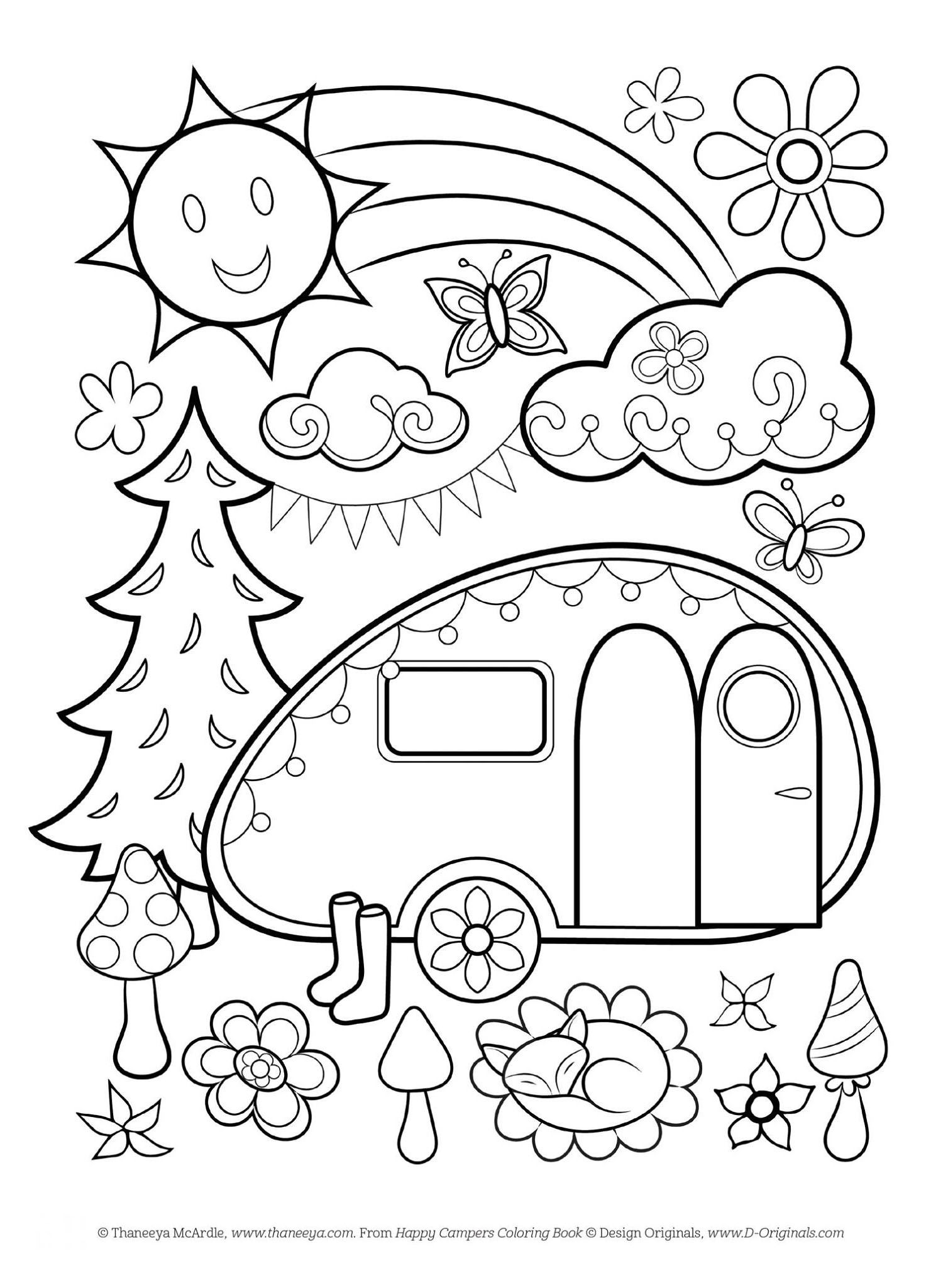 Free Happy Campers Coloring Page Free Coloring Pages