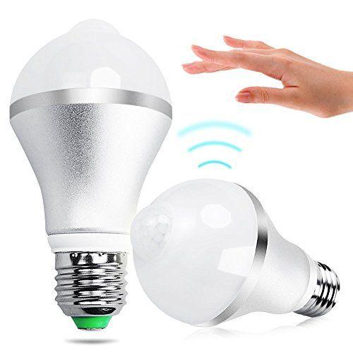 flintronic Ampoule LED E27 7W PIR Infrarouge Détecteur de Mouvement