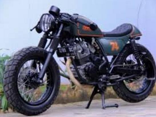 Modifikasi Yamaha Scorpio Cafe Racer Bike Desain Pinterest