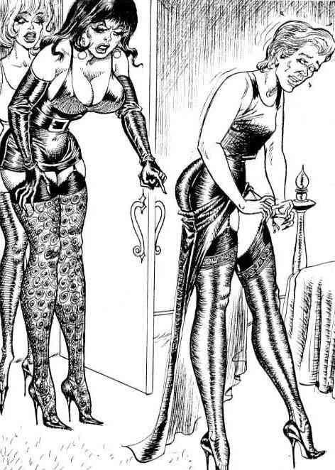 Forced femenization bondage art drawings cross dress