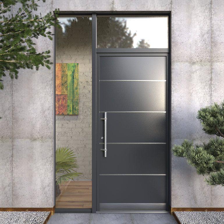 Puertas de aluminio google search casa pinterest - Puertas casas modernas ...