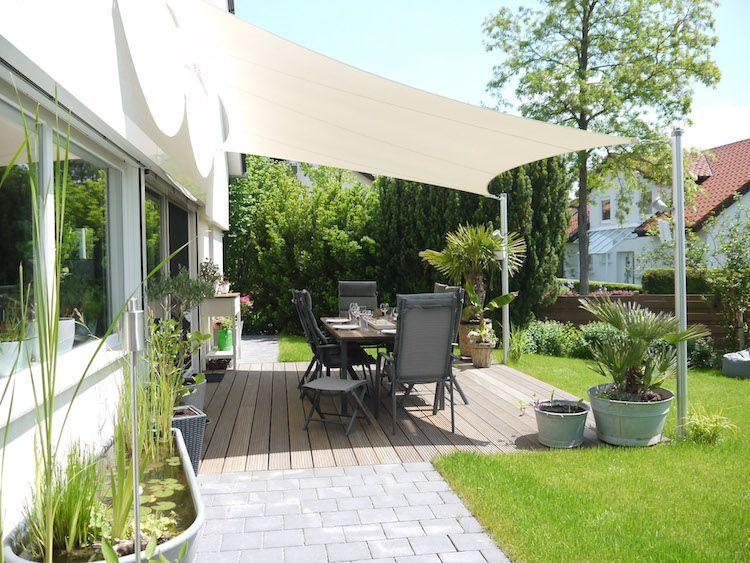 Moderne Beschattung für Ihre Terrasse – ein Sonnensegel nach ...