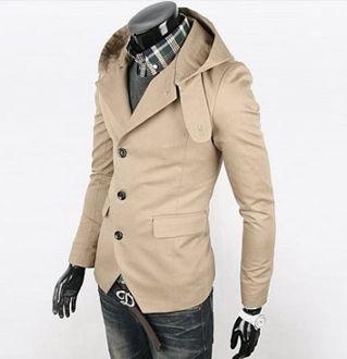 Korean Style Men Casual Hooded Blazer