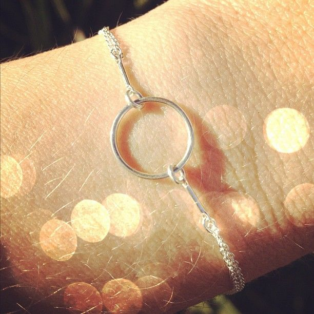 Love how dainty the Karma Bracelet is