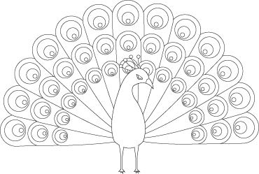Pretty Peacock Coloring Page | For Kids | Pinterest | Peacocks ...