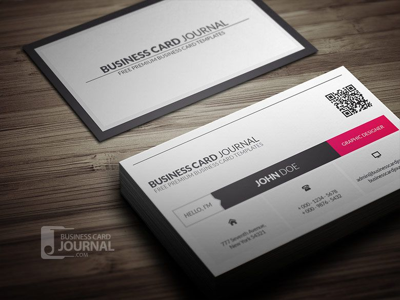 A Modern Yet Simplistic Metro Style Design With Clean And - Business card with qr code template