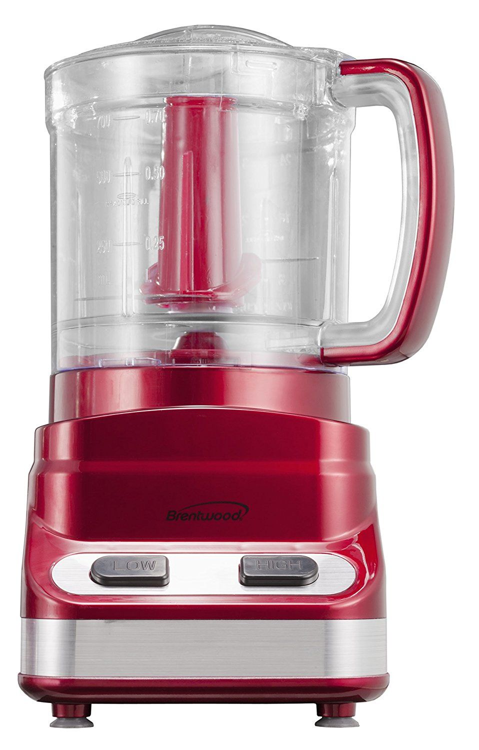 Brentwood FP548 3Cup Tone Color Food Processor, Red