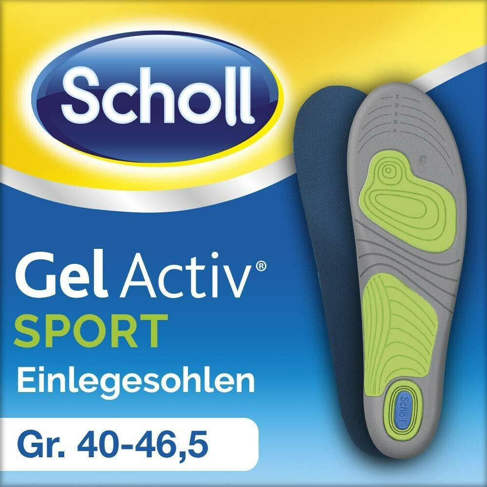 Scholl Gelactiv Einlegesohlen Sport Fitness Ergonomisch 1 Paar Grosse 35 5 46 5 Sport Fitness Sport Fitness
