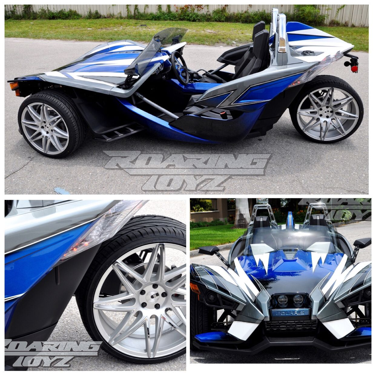 Motorcycle Turbo Modified: Custom Polaris Slingshot Turbo Charged With 283hp 329lbs