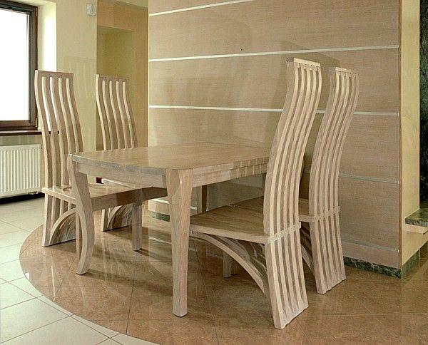 1151 Meble Drewniane Artystyczne Do Jadalni Stół Dębowy I