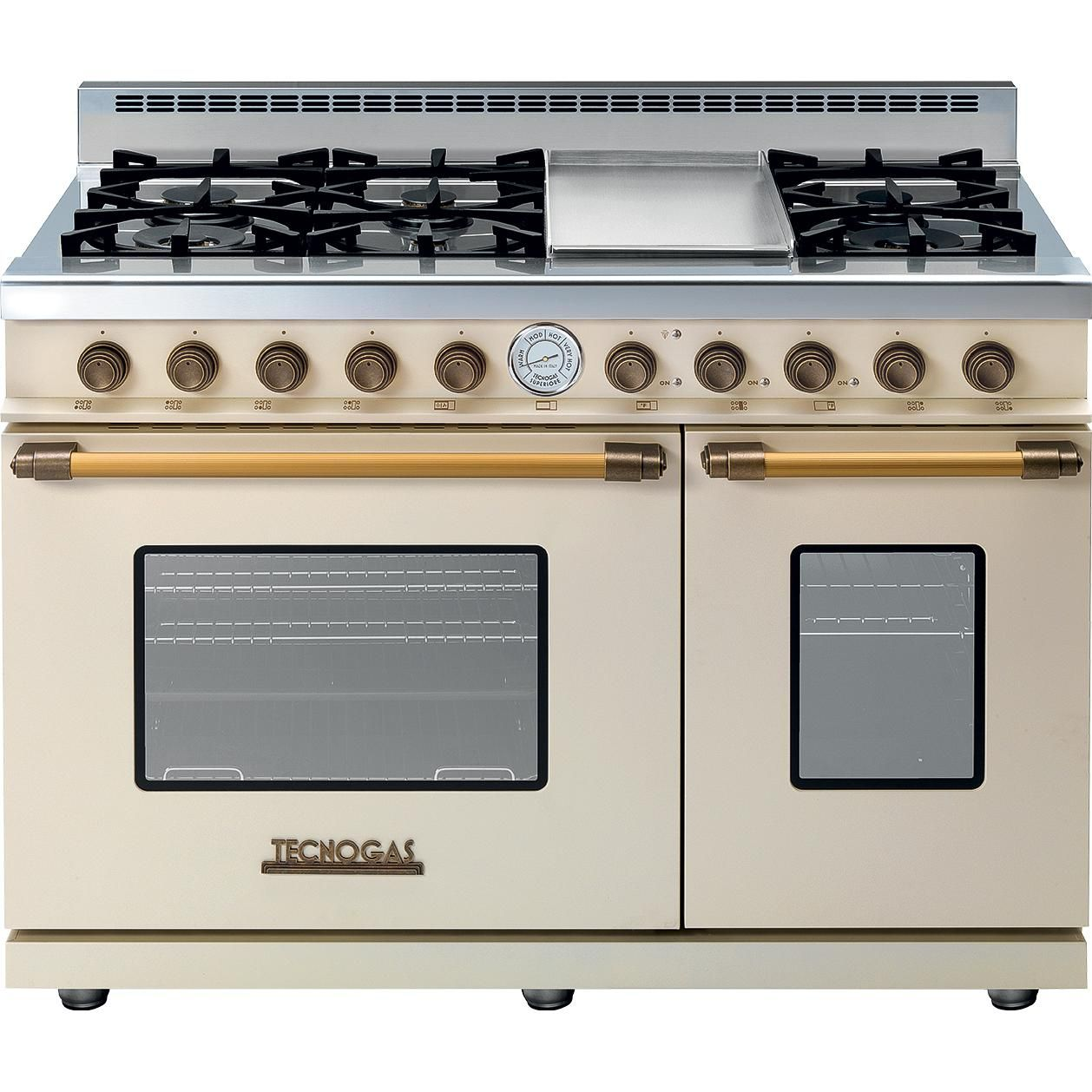 Tecnogas Superiore 48 Inch Deco Natural Gas Range With 6 Burners Griddle Gas Oven Gas And Electric Ranges Oven