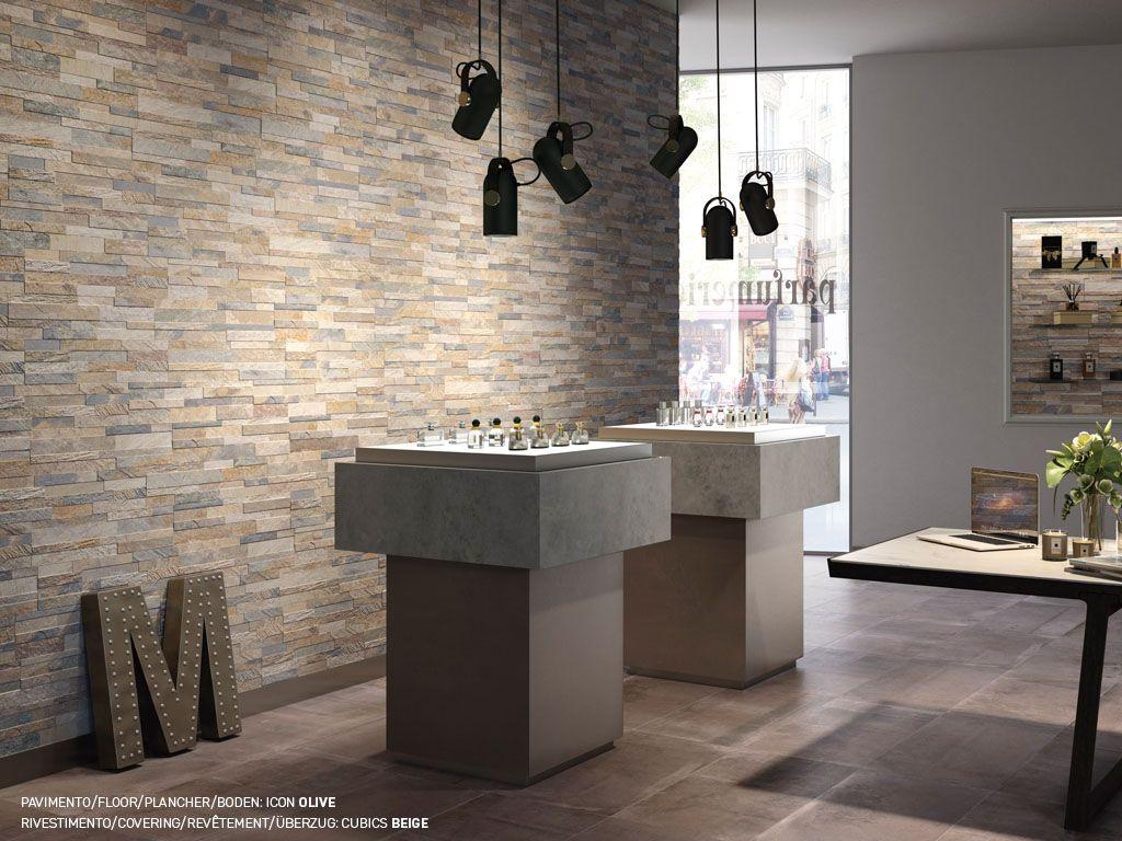 Cubics Collection Grey Decorative 3d Porcelain 6x24 Wall Tiles Beige Walls Tiles