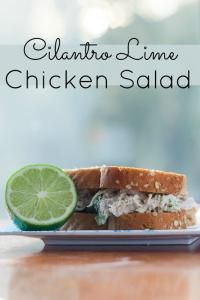 Cilantro Lime Chicken Salad is sure to be your new favorite chicken salad!