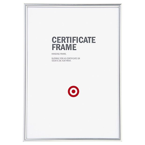 a3 certificate frame target 12