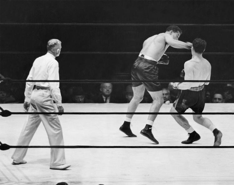 Louis comes home a champ September 20, 1939 Although baseball has been king at �The Corner,� the site has also held other significant events. Here hometown favorite Joe Louis throws the 11th-round punch that knocked out Bob Pastor, a victory in keeping with Detroit�s reputation as City of Champions. The fight was scheduled for 20 rounds, with the ring set up in the middle of Briggs Stadium infield.
