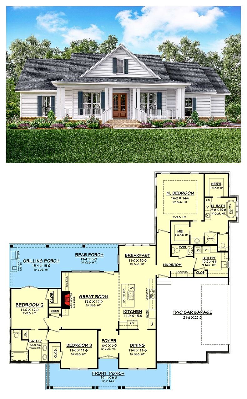 Classic 3 Bed Country Farmhouse Plan House Plans Farmhouse Dream House Plans House Blueprints
