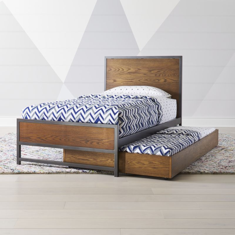 Fulton Street Brown Trundle Bed Trundle Bed Wooden Trundle Bed