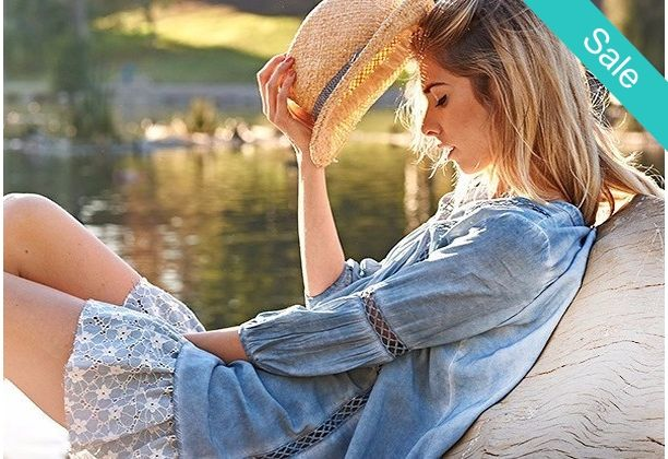 Boho Chambray Dress - ...Sugar and spice this one is everything nice! With this on you won't have to be!
