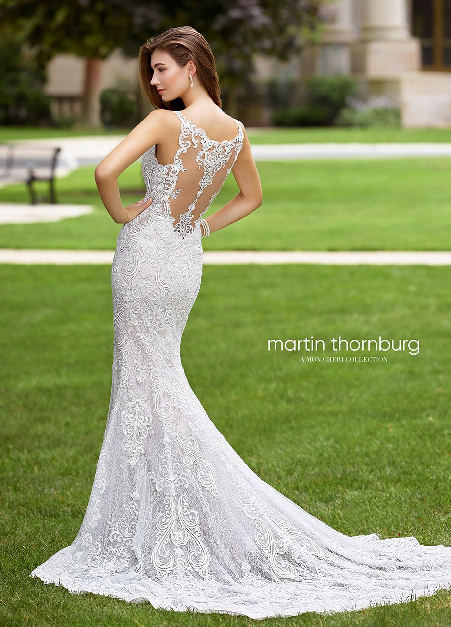 Sequin Lace On Tulle Fitted Trumpet Wedding Gown 118259 Talea