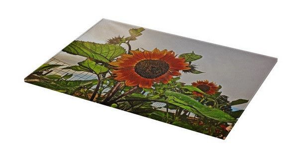 Sunflowers and Storm Cutting Board
