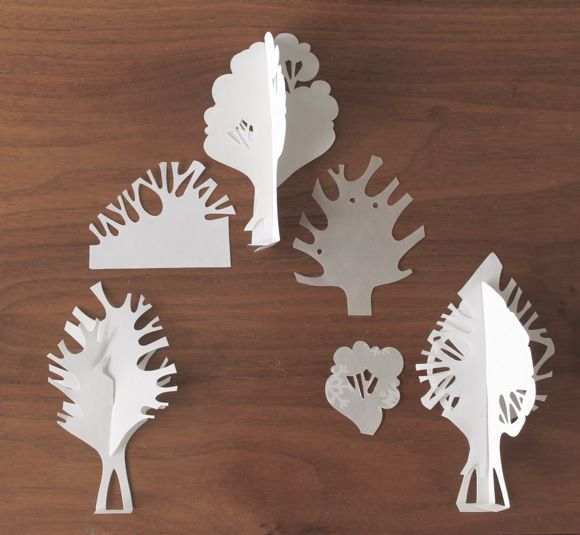 paper trees, paper art, weird amiga, weirdamiga, diorama