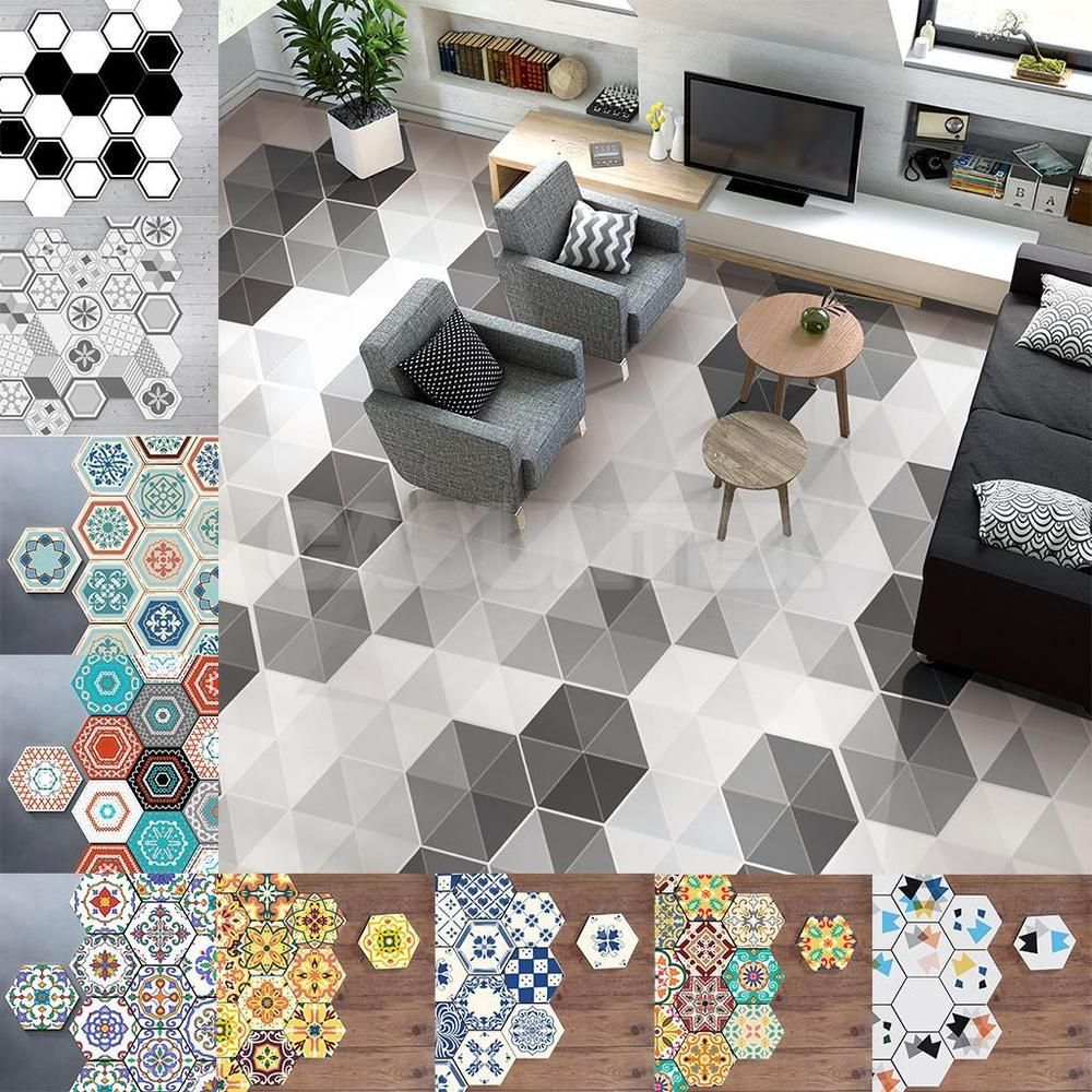 10 Pieces Hexagon Wall Tile Stickers Can Also Be Used As Decorative Wall Or Floor Tile Stickers In Bathroom Or Anywhere In Your House Application Tiles