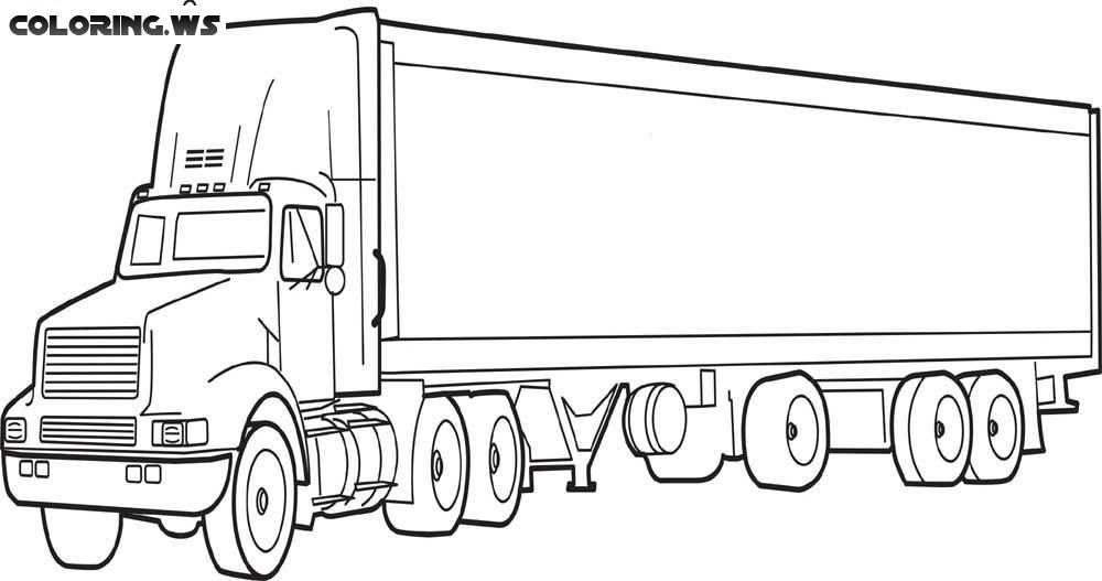 Semi Truck Coloring Page Truck Coloring Pages Construction