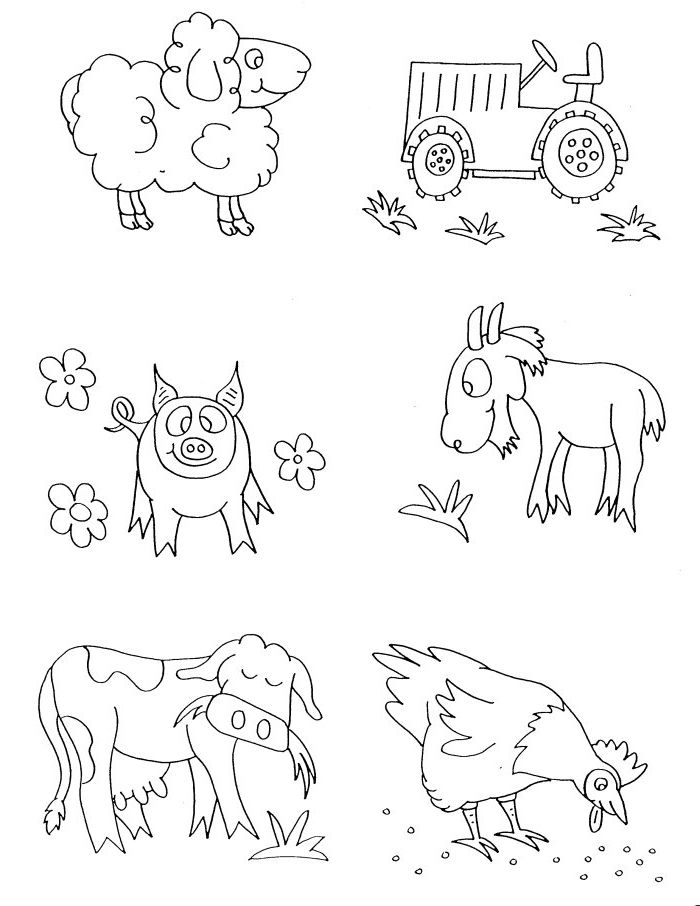 farm animals coloring pages preschool animals coloring pages here we come animals coloring pages - Picture Of Animals To Color