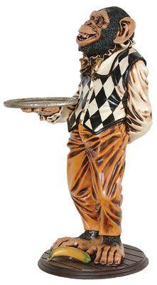 Monkey Butler Monkey Statue Butler Statues Pinterest