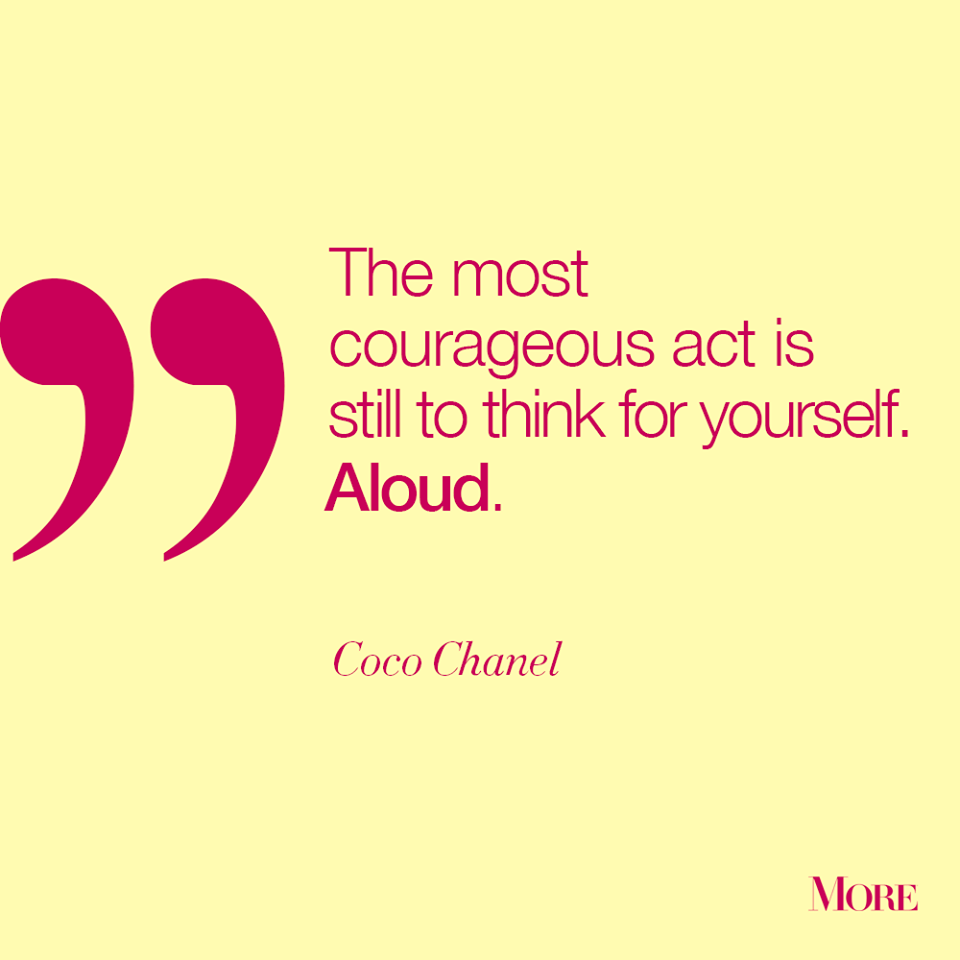 Always Be Confident In Your Convictions Quote Quotes Chanel