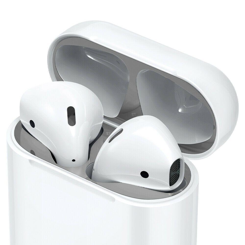 Airpod 1 2nd Gen Shield Anti Dust Sticker Spigen Shine Shield Silver Ebay Shield Design Apple Airpods 2 Metal