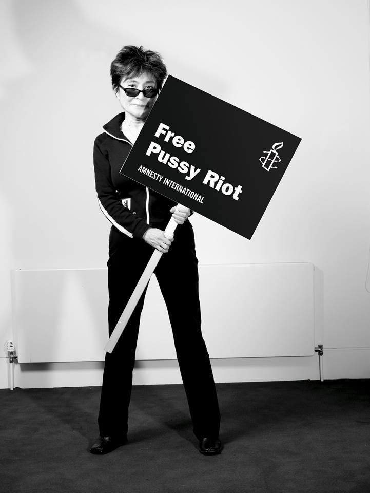 Japanese artist Yoko Ono sign our petition to #FreePussyRiot! One year in prison is one year too long. Join her now: www.amnesty.org/freepussyriot
