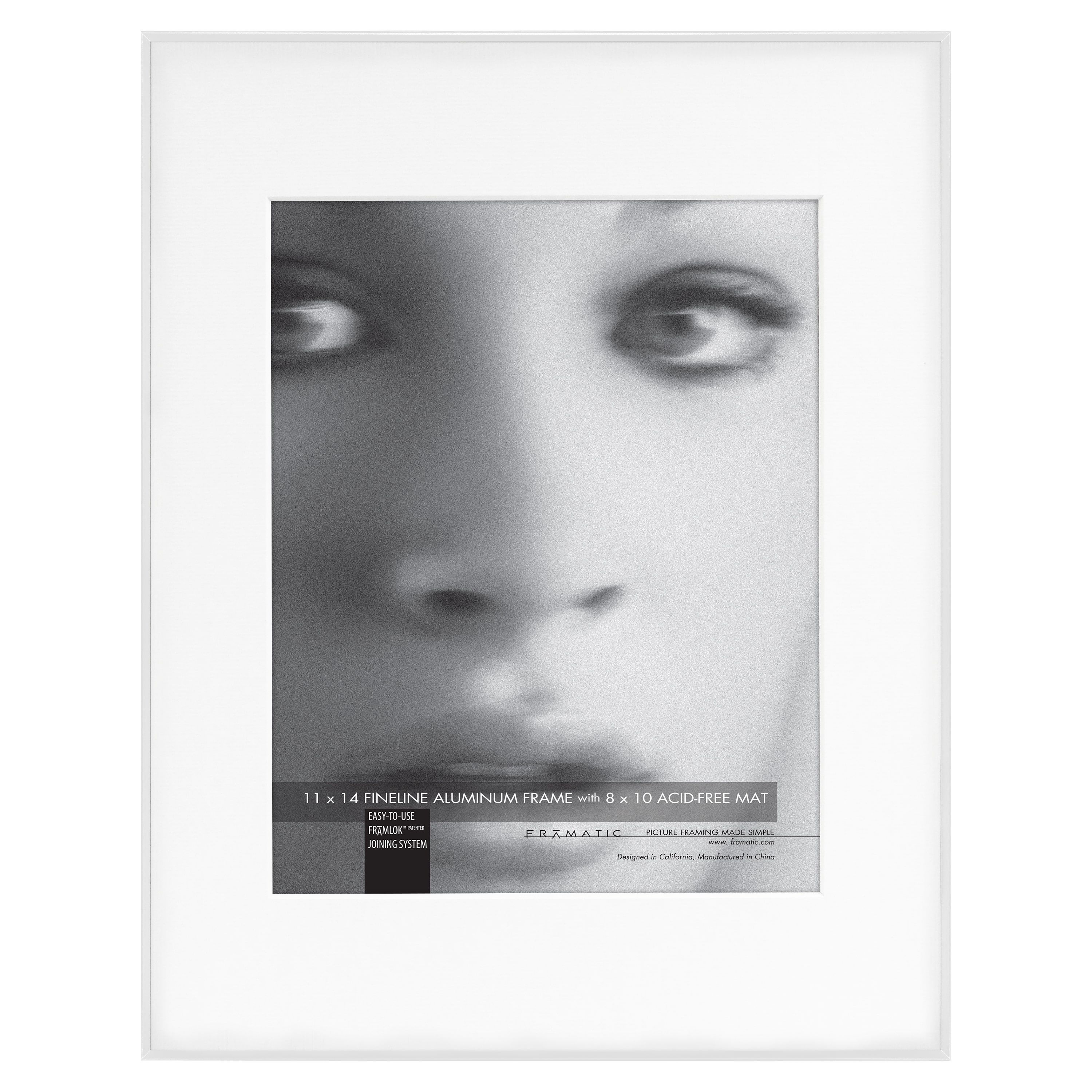 MCS Industries Fineline White Metal 11x14 Picture Frame (White 11x14 ...