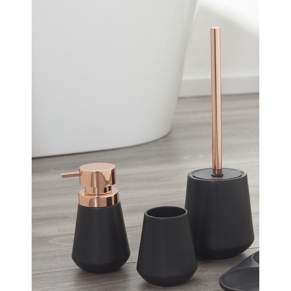 Sealskin 3 Piece Bathroom Accessories Set Conical Copper Black