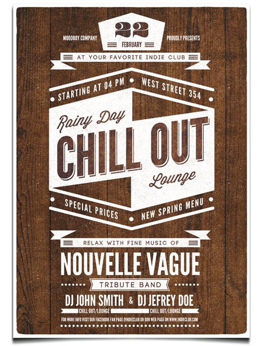 flyer templates chill out flyers catalogues – Retro Flyer Templates
