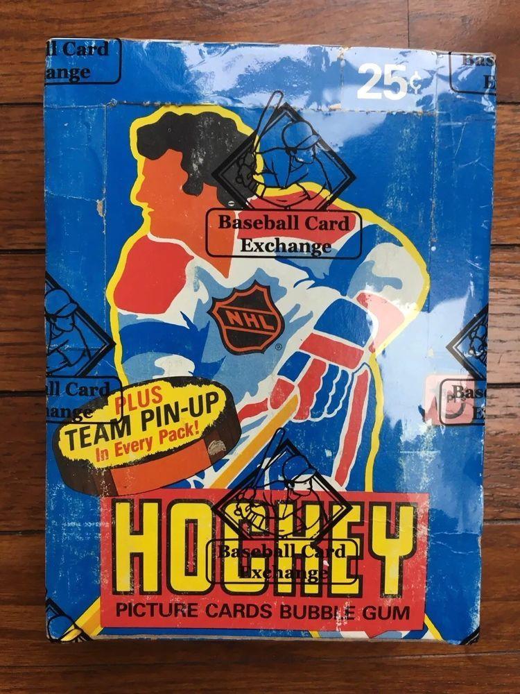 1980 198081 topps hockey unopened sealed wax box bbce