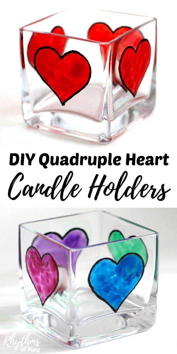 Diy Quadruple Heart Square Votive Candle Holders Best Of Rhythms