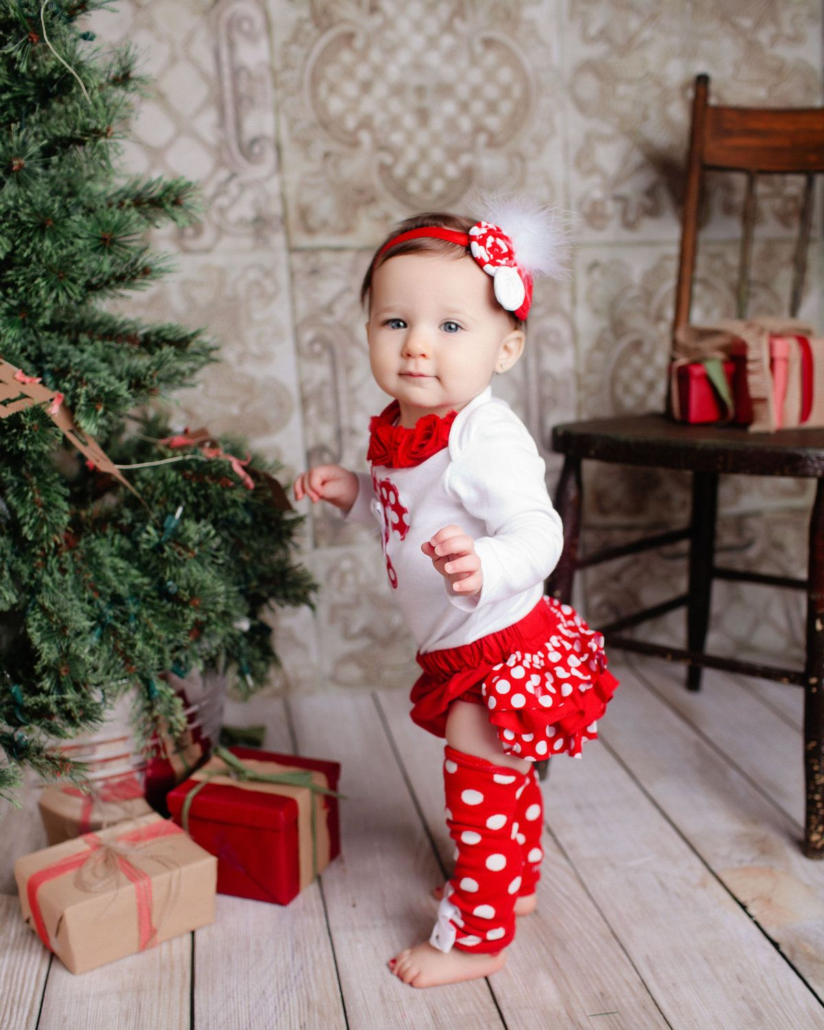Tiny Dresses, Big Style Nothing's more fun than shopping for your baby girl's first holiday outfit. Dress her up in holly jolly festiveness—look for cute little sets perfect for getting together with the family for a .