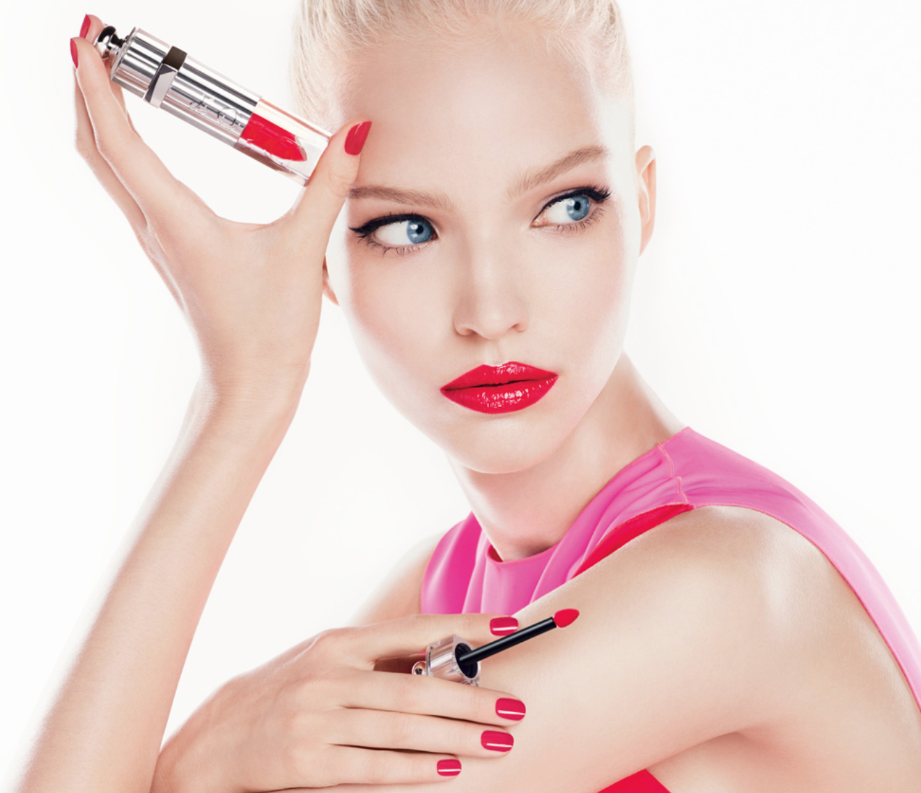 Sasha Luss by Steven Meisel for Dior Addict Beauty S/S 2014
