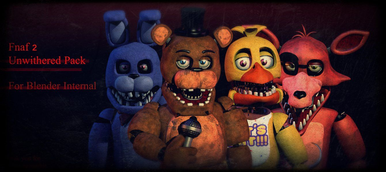 Fnaf2 Uwnithered Pack Fixed Links By Coolioart Fnaf Drawings Fnaf Five Nights At Freddy S